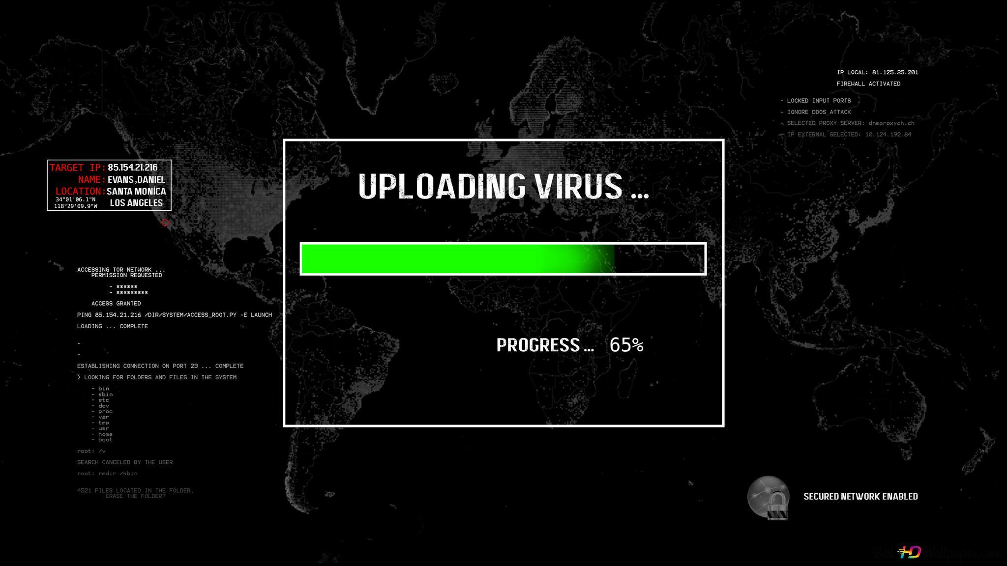 Virus Fond Noir Hd Fond Décran Télécharger