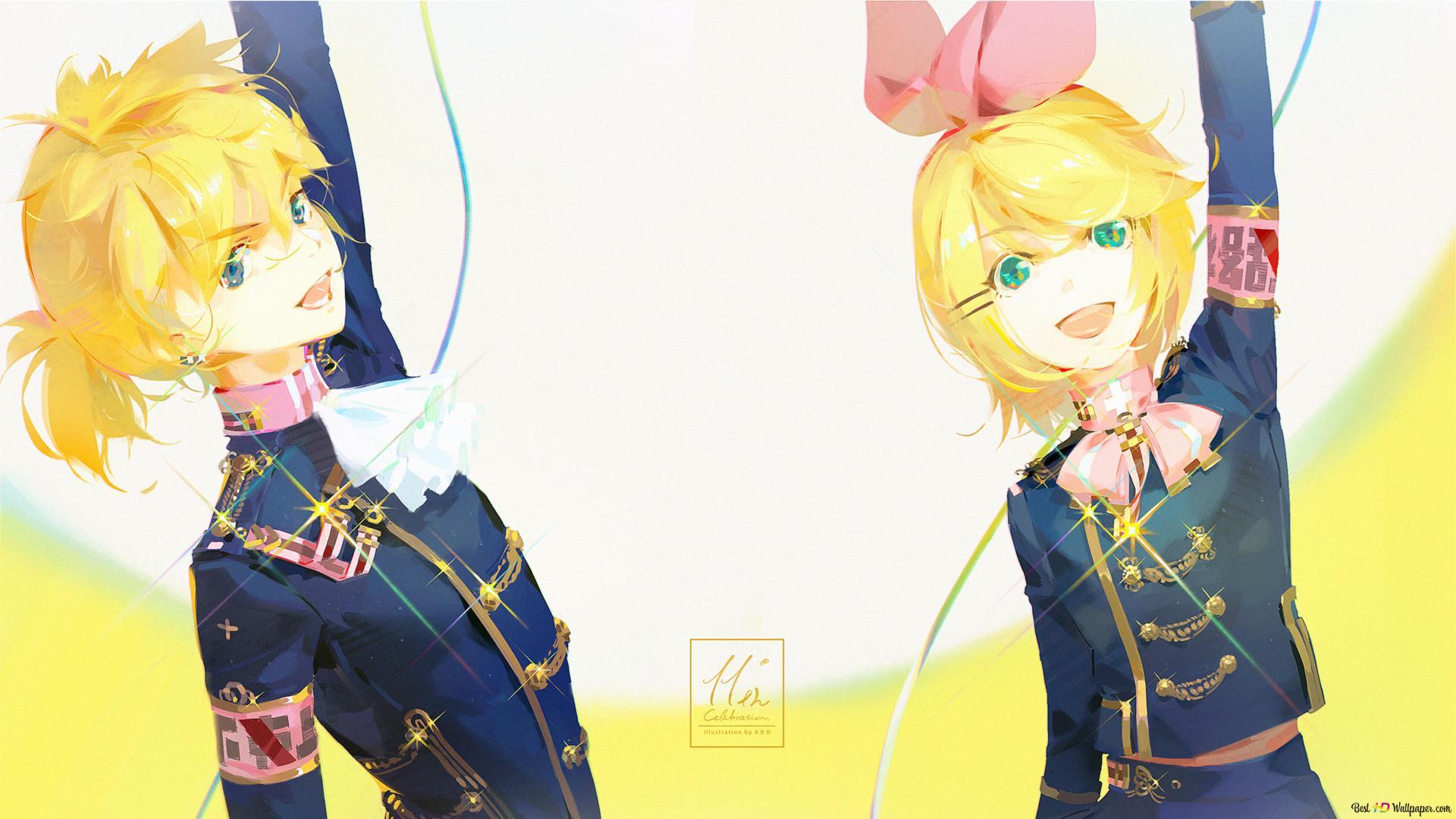 Descargar Fondo De Pantalla Vocaloid Kagamine Len Y Rin
