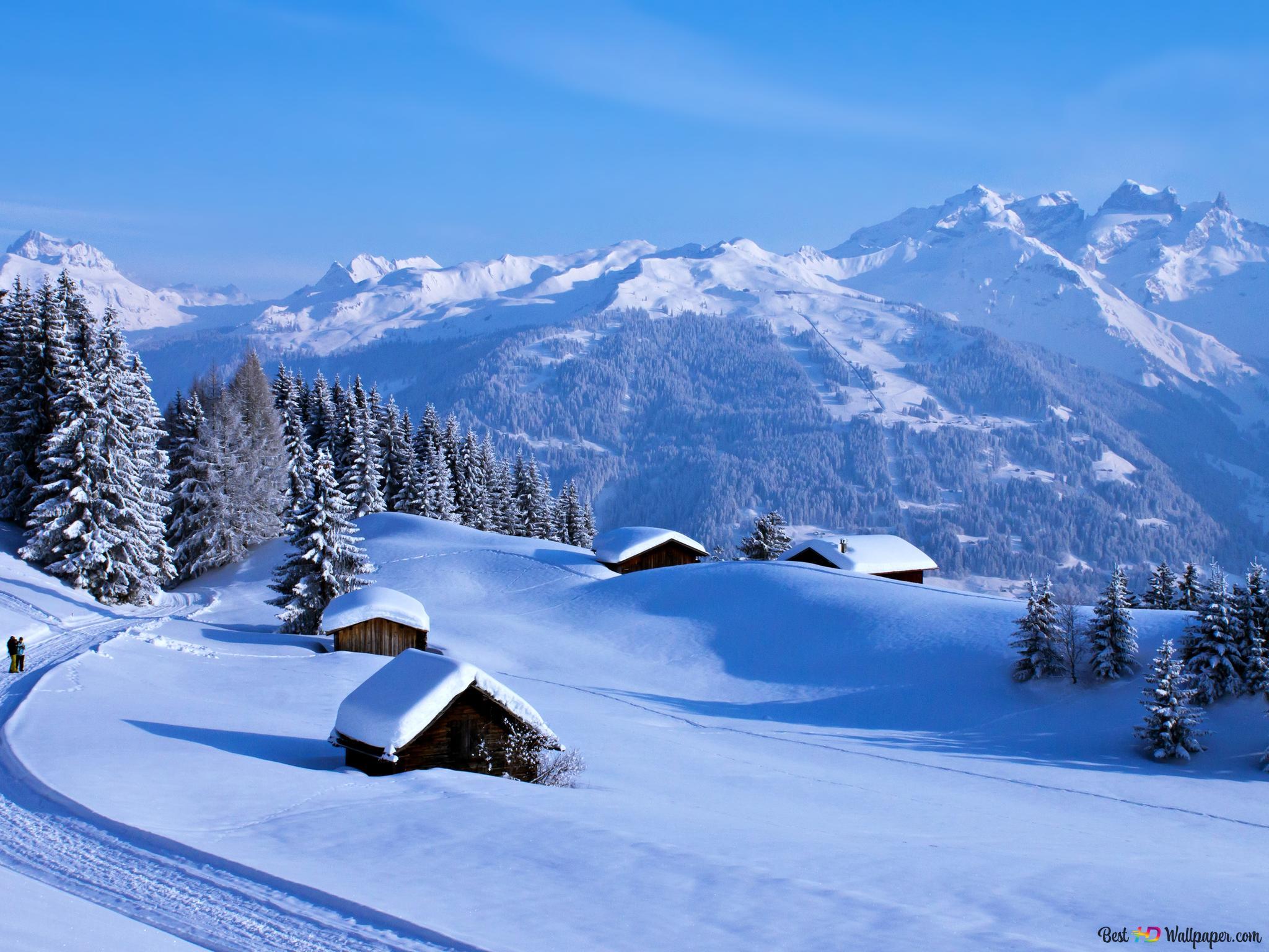 完璧な冬の風景 Hd壁紙のダウンロード
