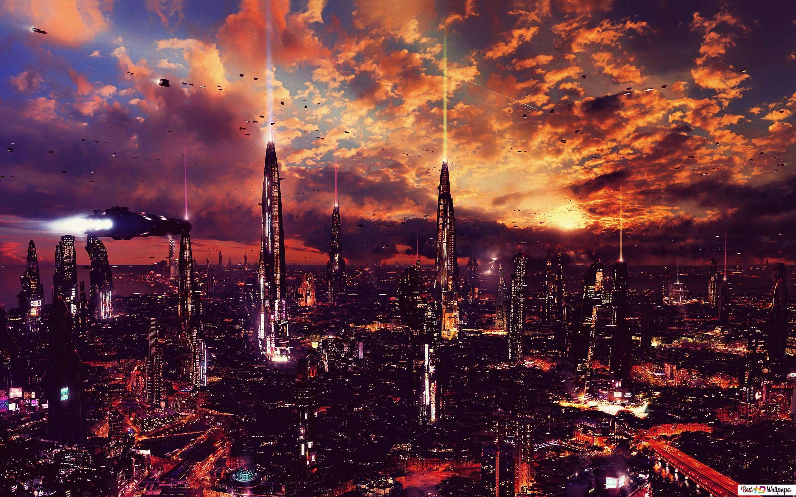 未来都市 Hd壁紙のダウンロード