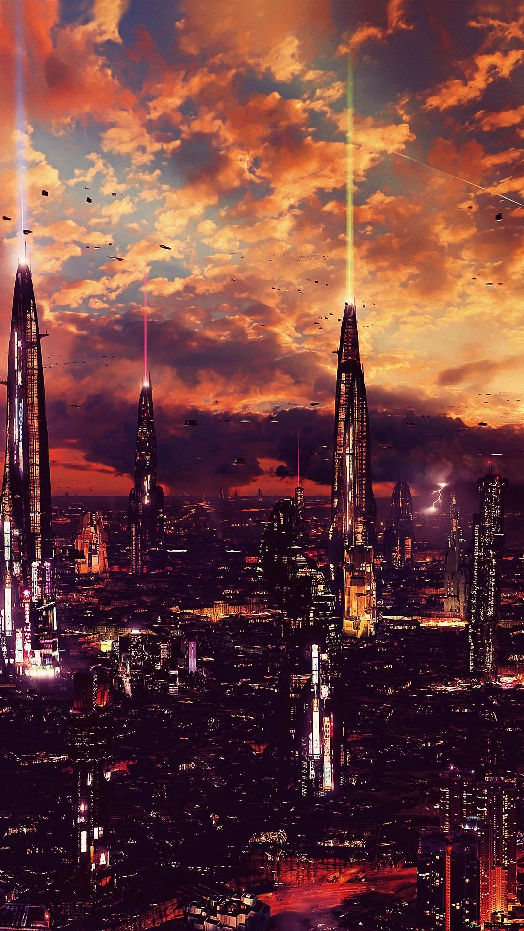 未來之城高清壁紙下載