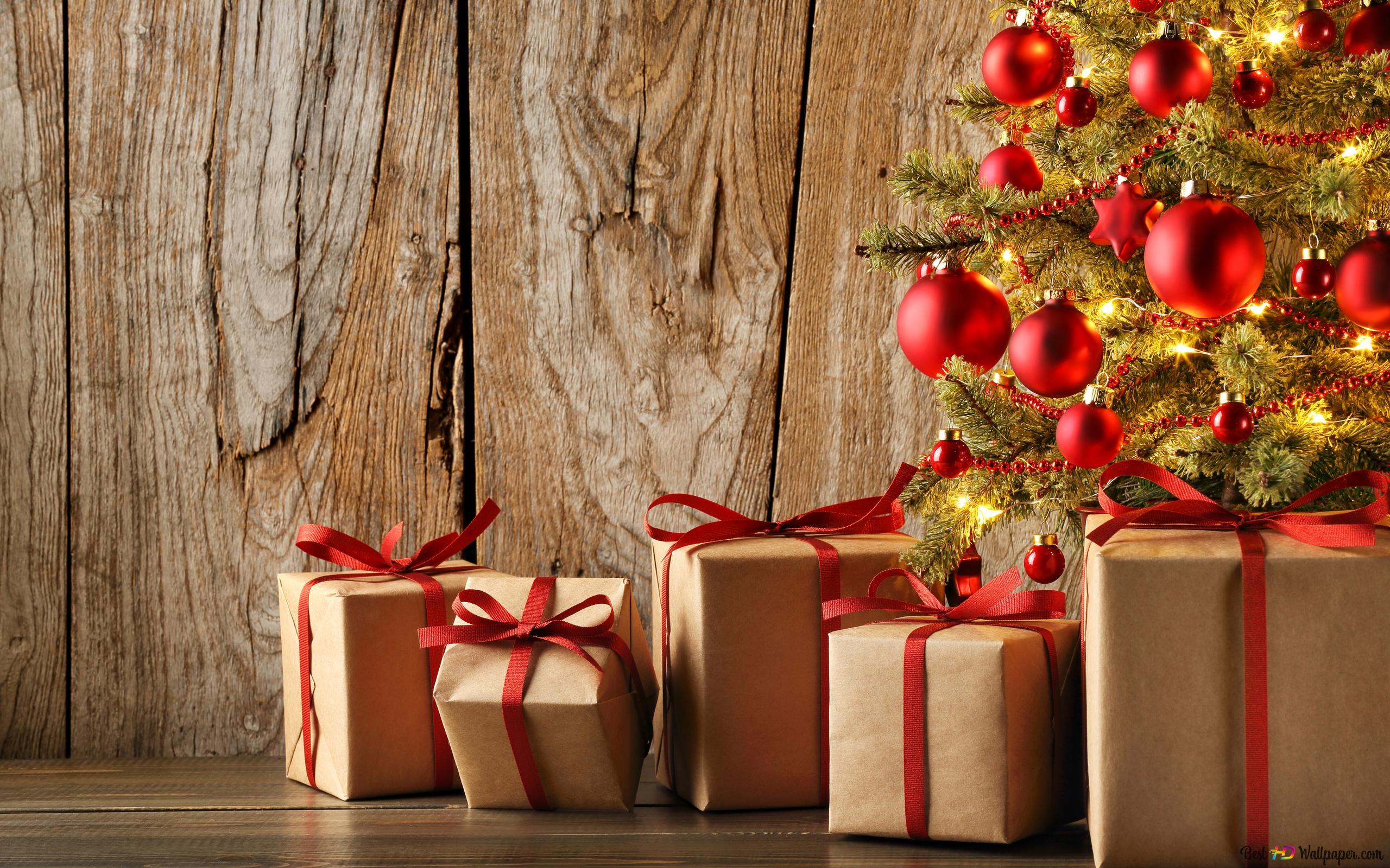 Weihnachtsgeschenk HD Hintergrundbilder herunterladen