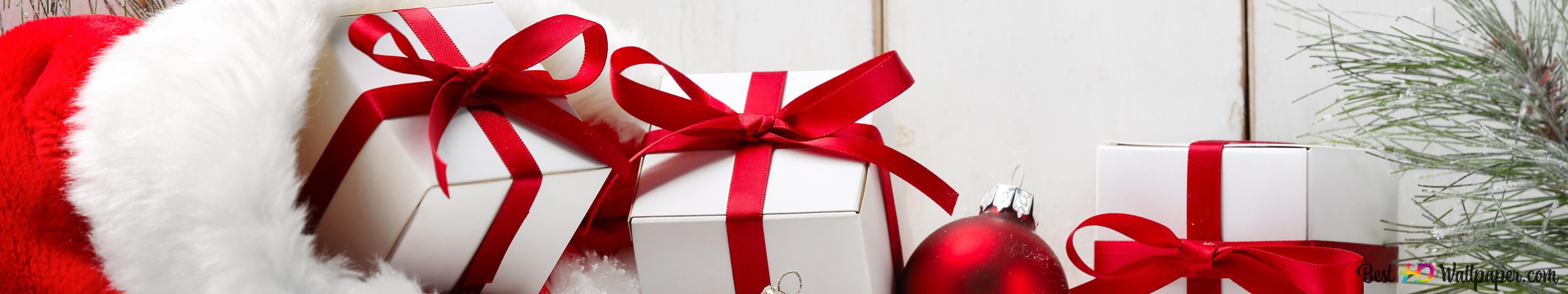 Weihnachtsgeschenke Sack.Weihnachtsgeschenke In Roten Sack Hd Hintergrundbilder Herunterladen