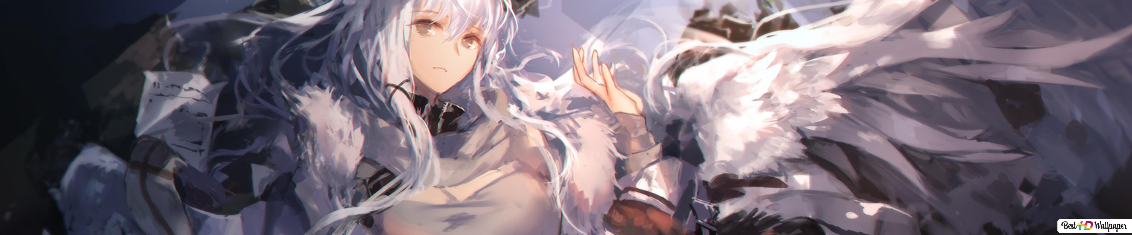 White Haired Anime Girl Hd Wallpaper Download