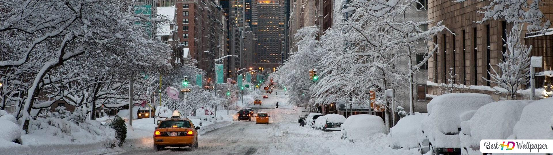 Winter In The City Hd Wallpaper Download