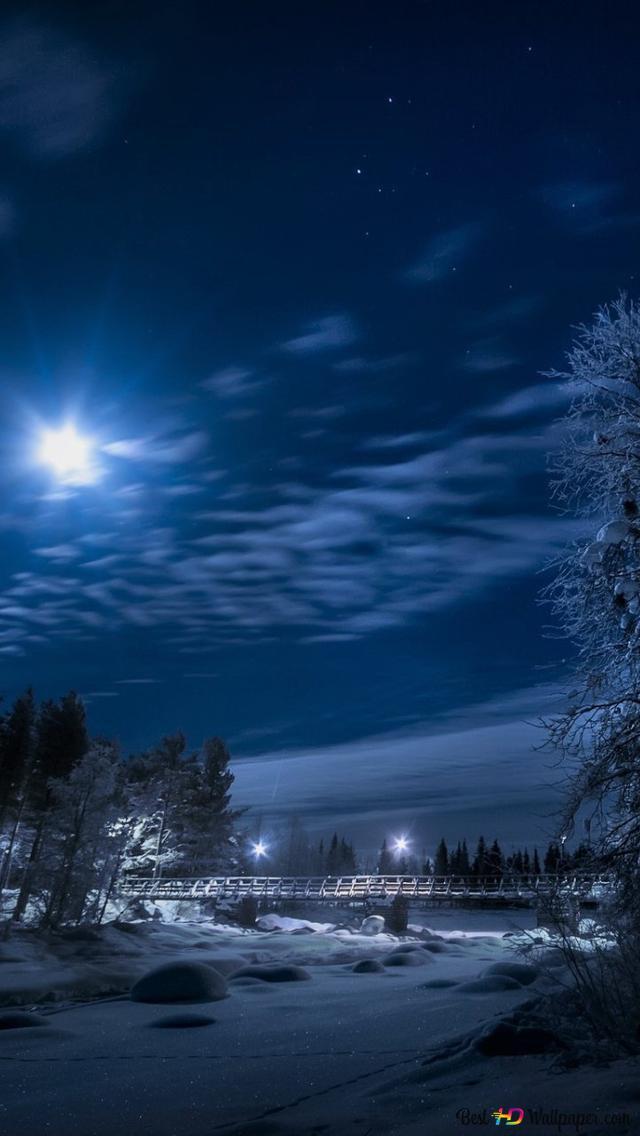 Winter Night Hd Wallpaper Download