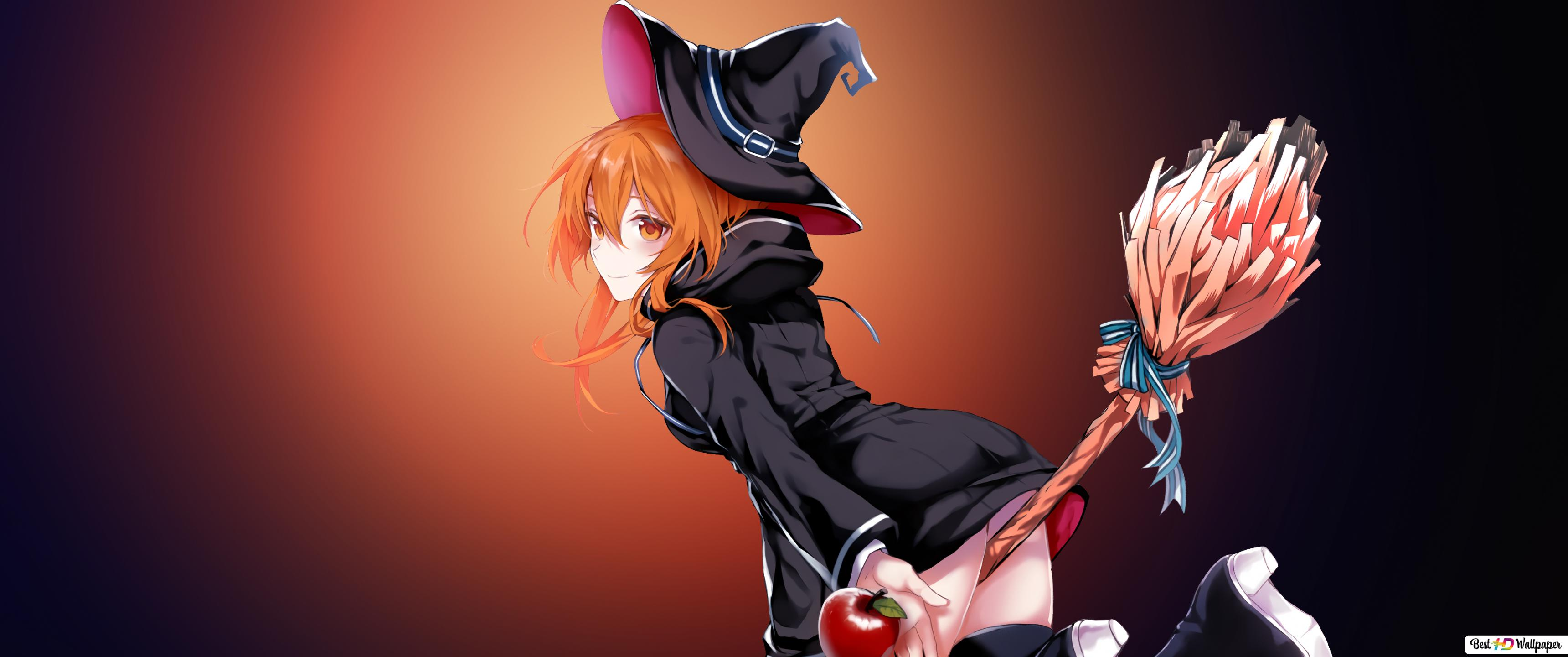 Witch Girl Anime Hd Wallpaper Download