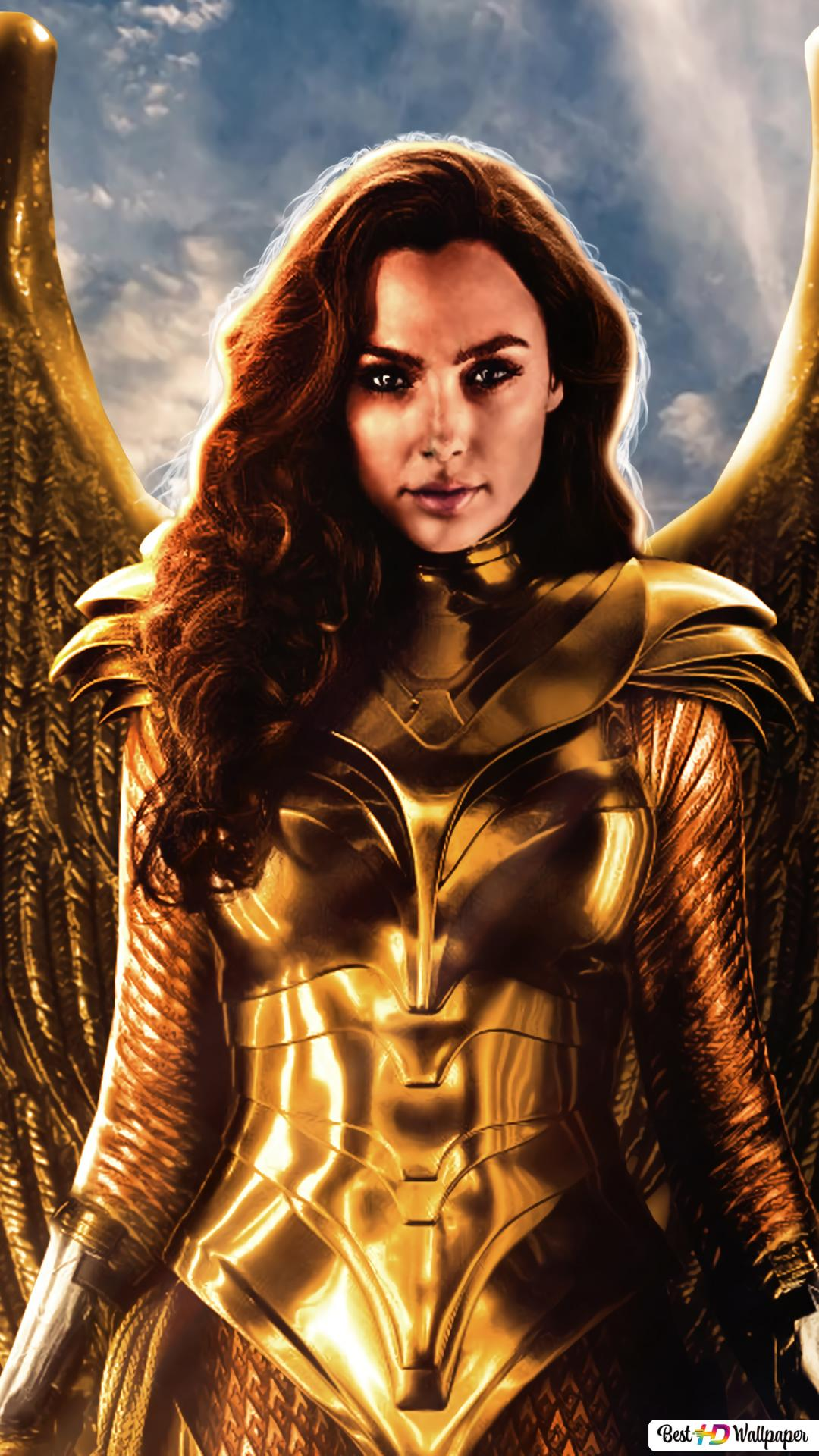 Wonder Woman 1984 Golden Armor Hd Wallpaper Download