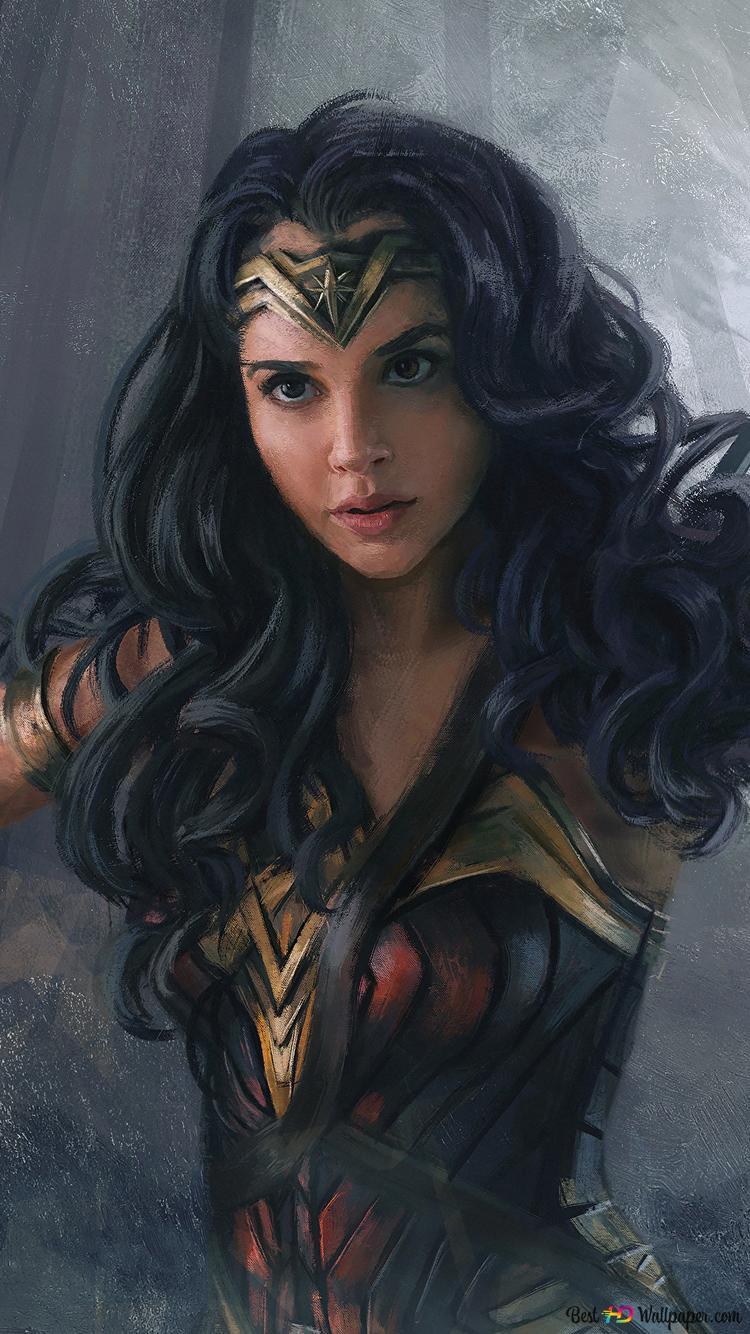 Wonder Woman Movie Gal Gadot Painting Hd Wallpaper Download