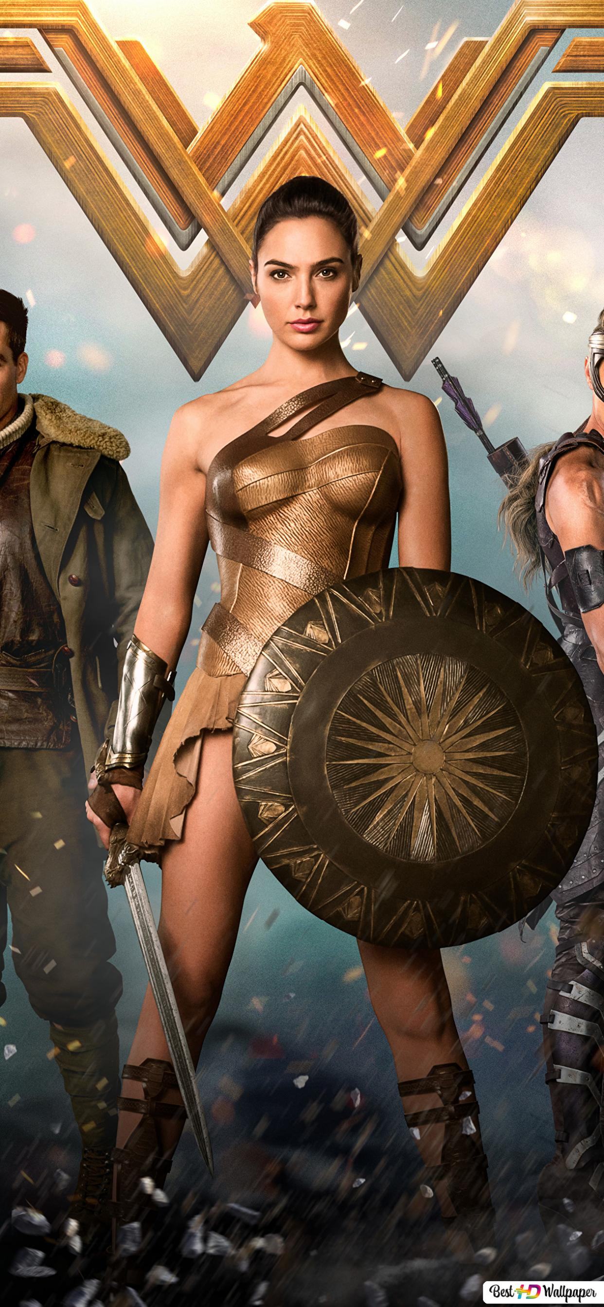 Wonder Woman Movie Gal Gadot With The Shield Hd Wallpaper Download