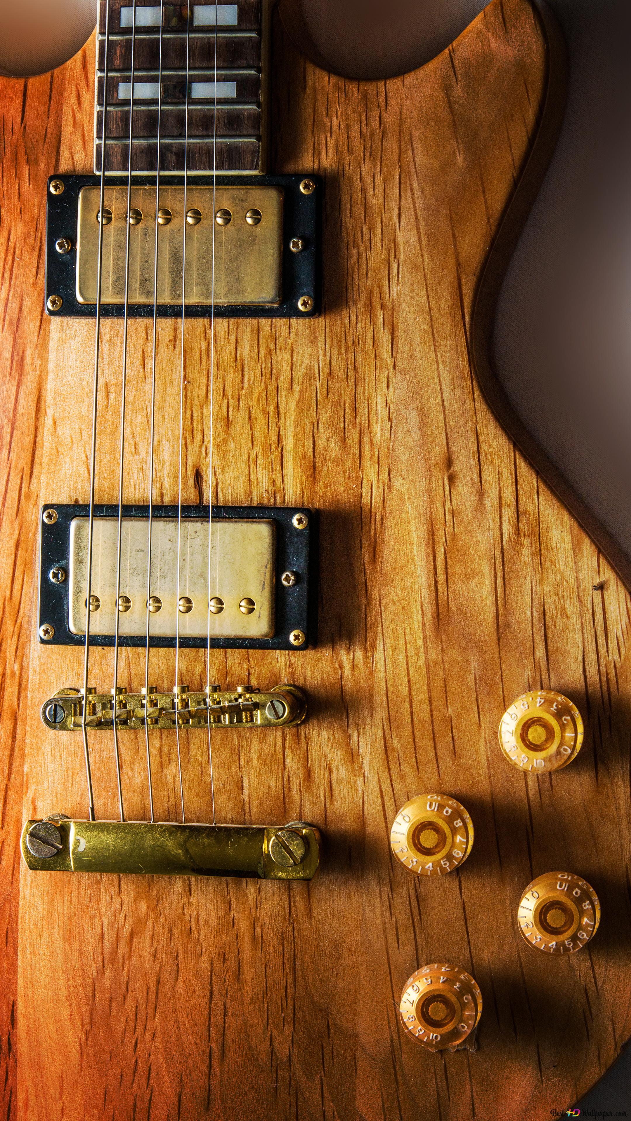Wooden electric guitar HD wallpaper