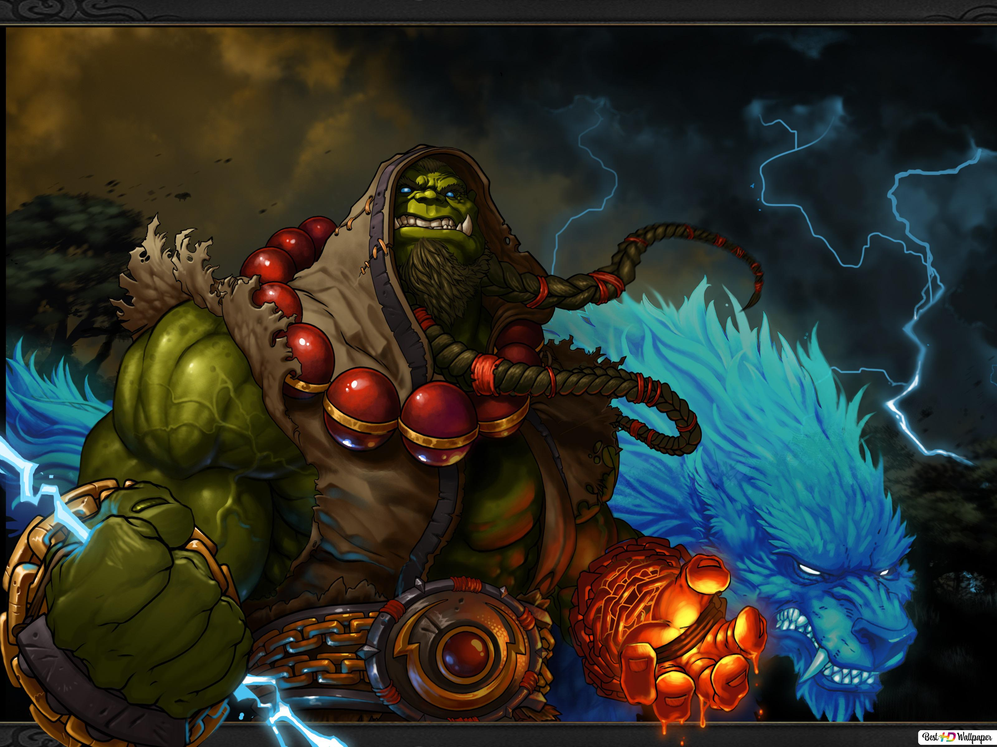 Descargar Fondo De Pantalla World Of Warcraft Chaman Orco Hd