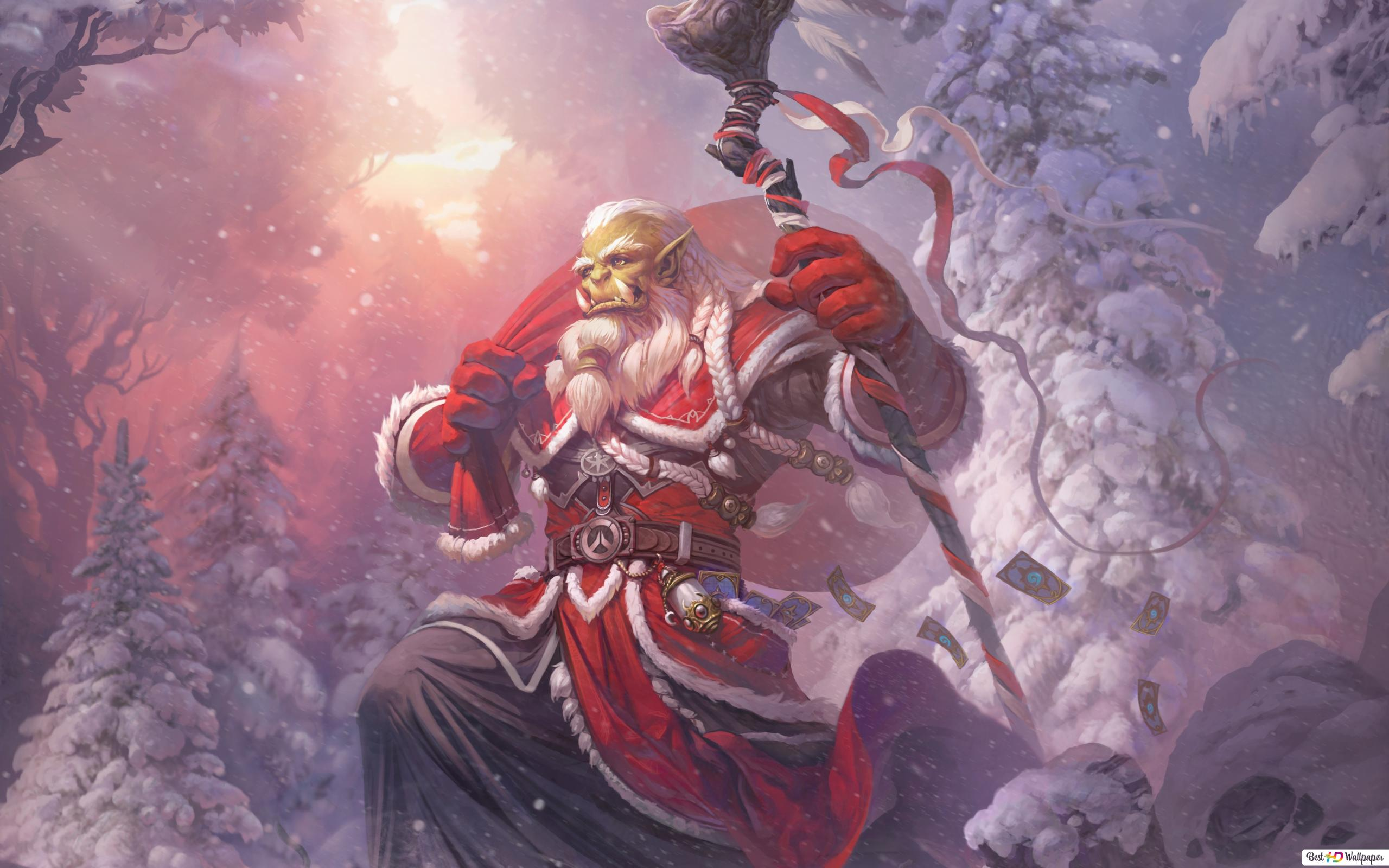 World Of Warcraft Christmas Orc Hd Wallpaper Download