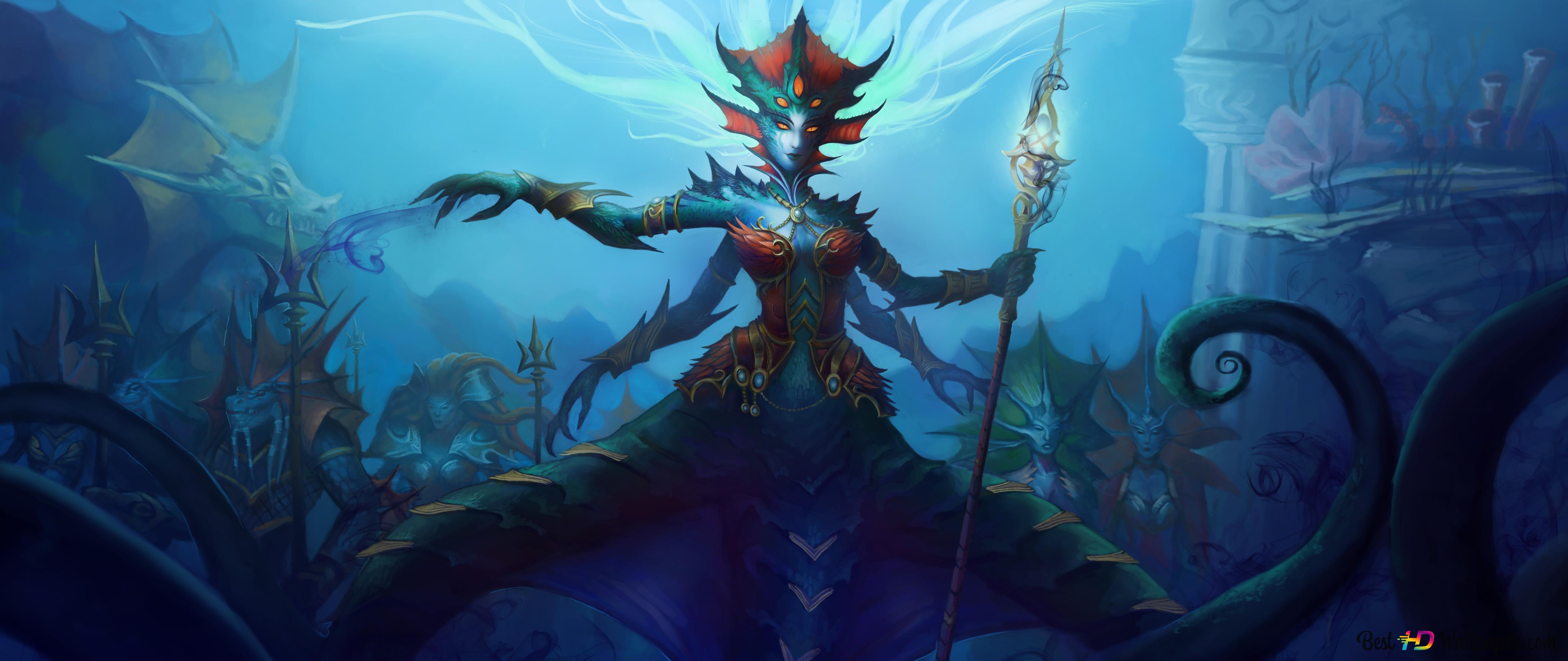World Of Warcraft Queen Azshara Hd Wallpaper Download