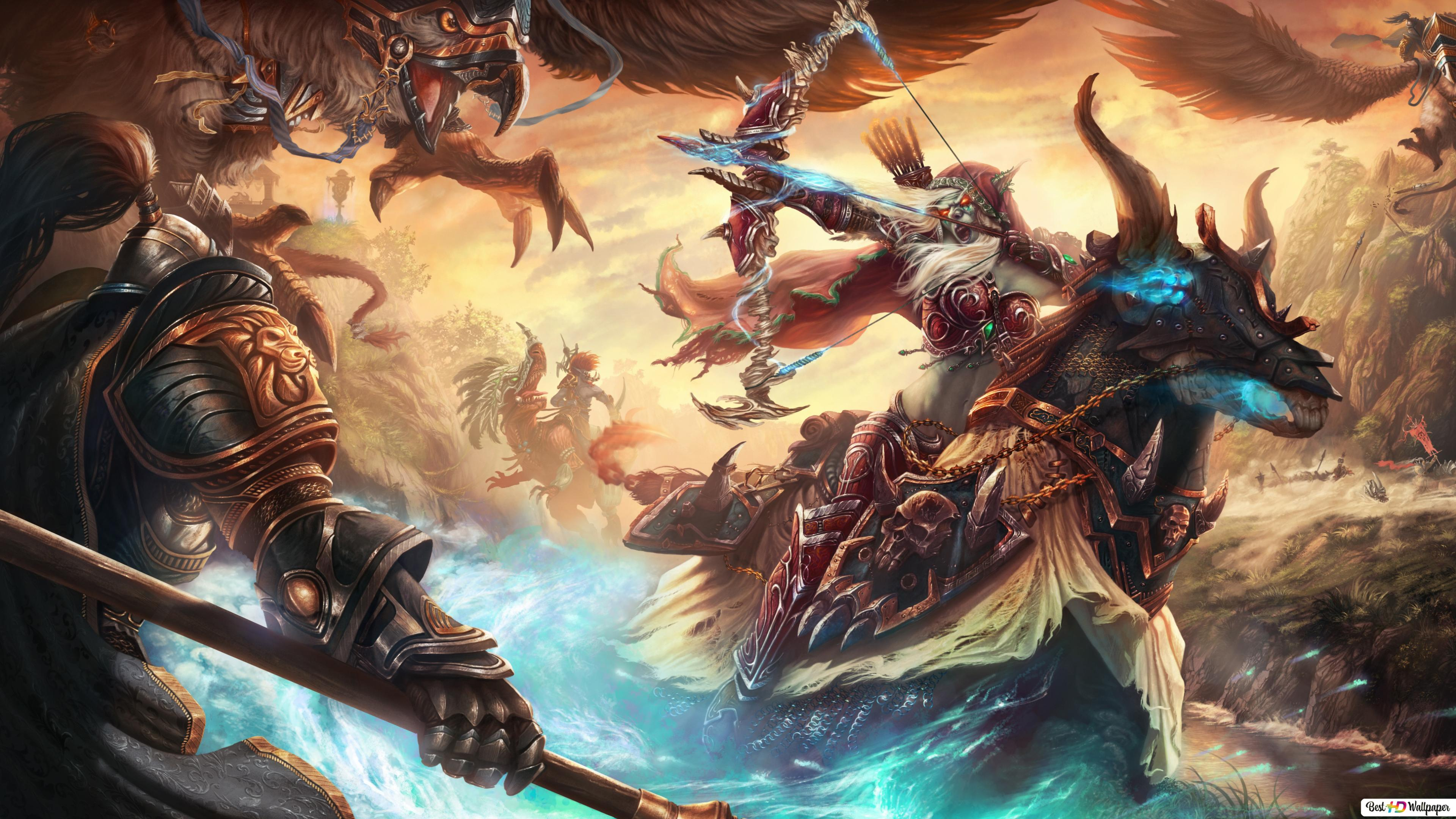 World Of Warcraft Warriors Battle Hd Wallpaper Download