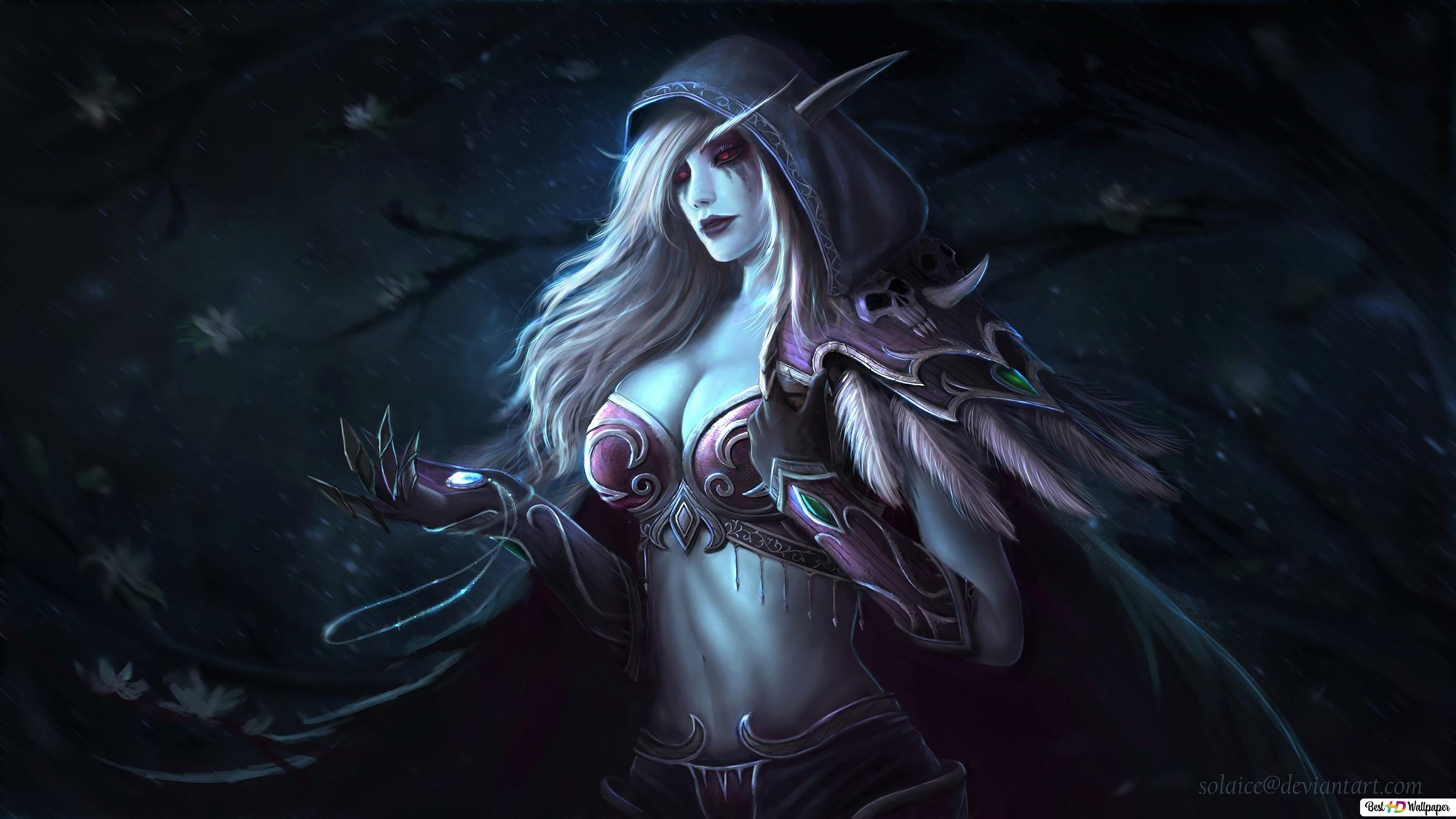 World Of Warcraft Wow Dark Lady Sylvanas Hd Wallpaper Download