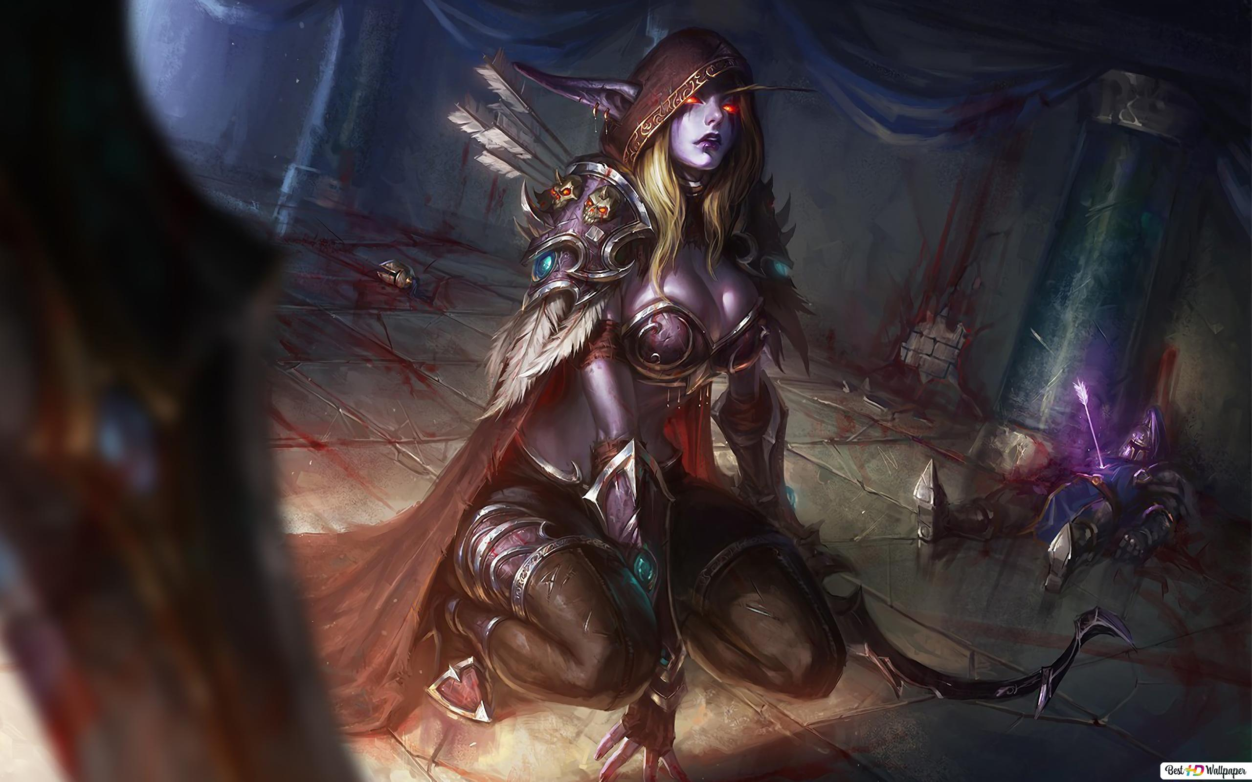 World Of Warcraft Wow Night Elf Sylvanas Hd Wallpaper Download