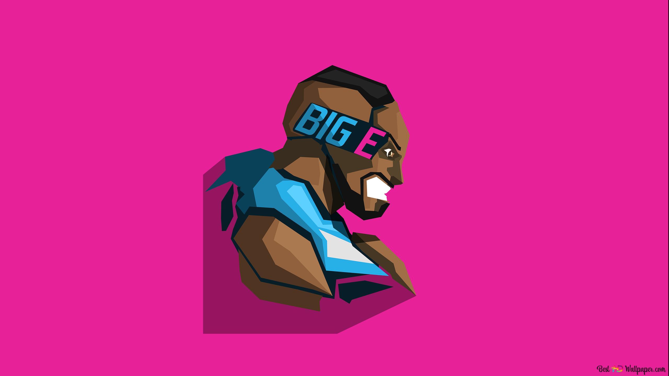 Wrestling Sports Big E Minimalist In Pink Wallpaper Background Hd Wallpaper Download