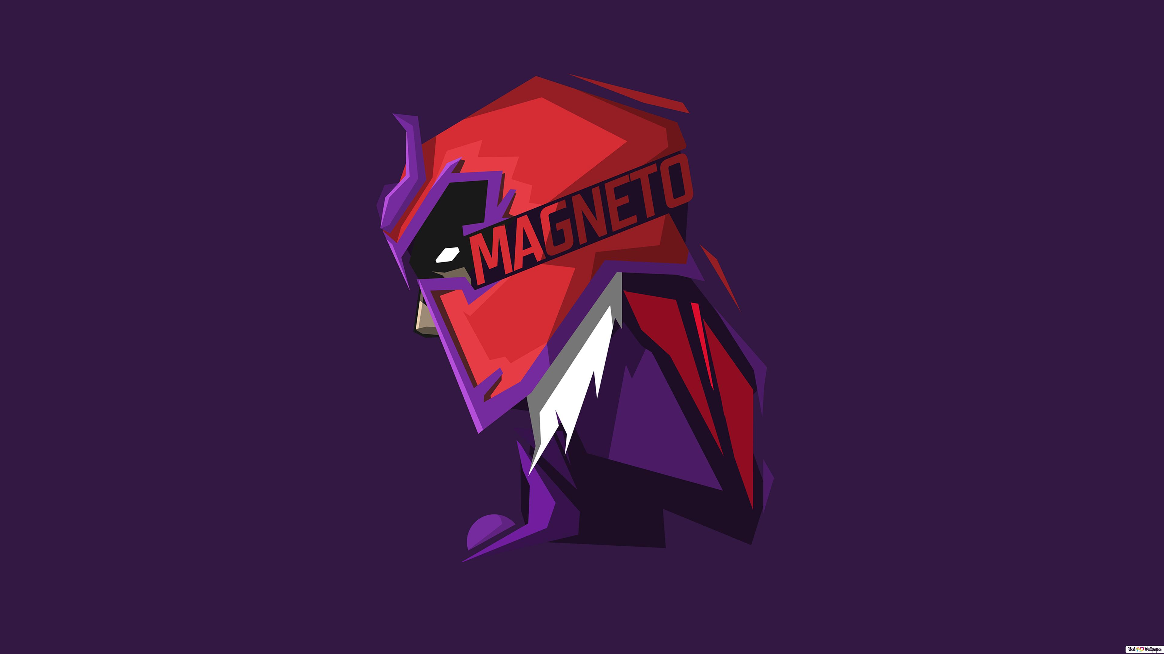 X Men Villain Magneto Minimalist In Purple Wallpaper Hd Wallpaper Download
