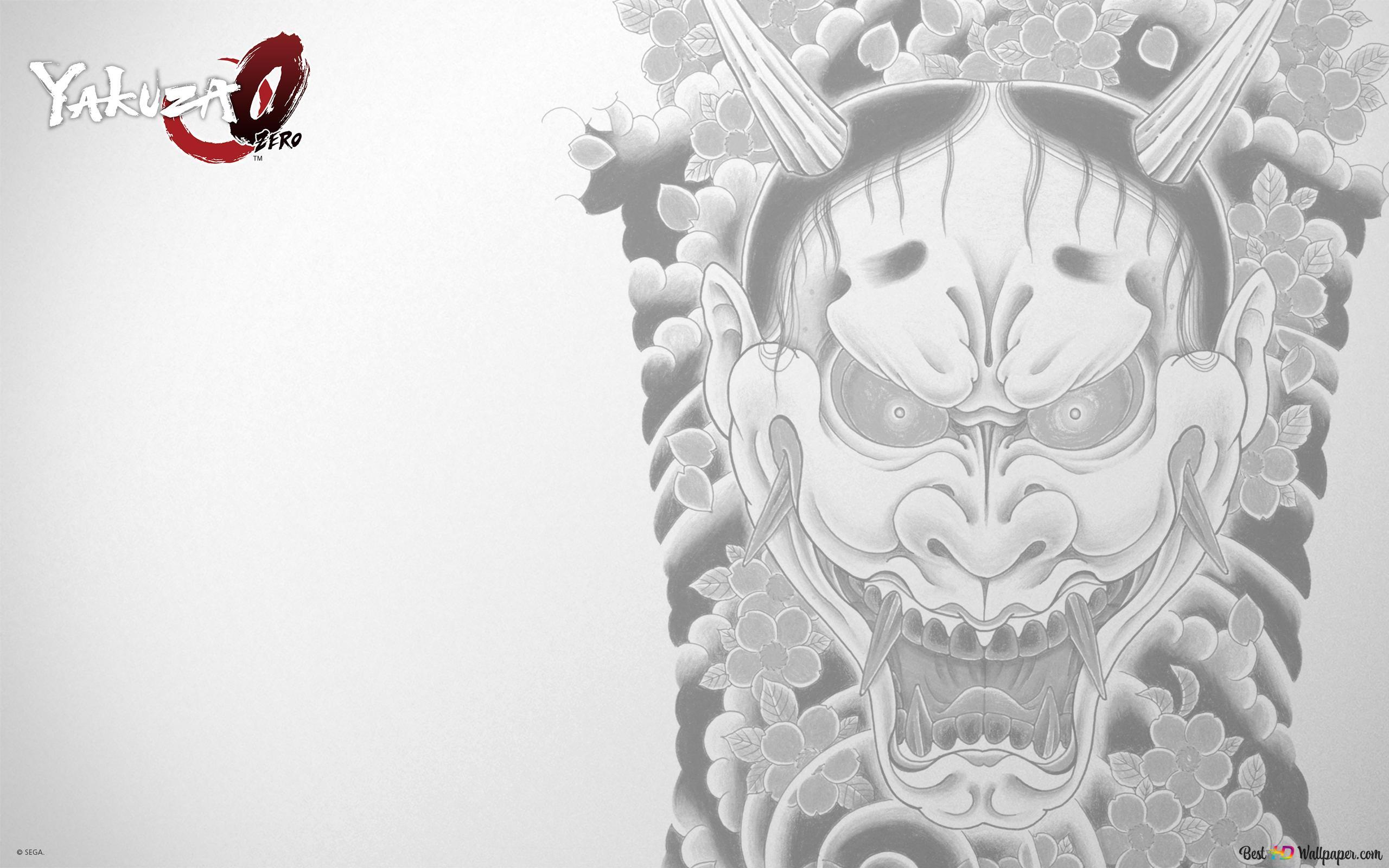 Yakuza 0 Mask Tattoo Hd Wallpaper Download