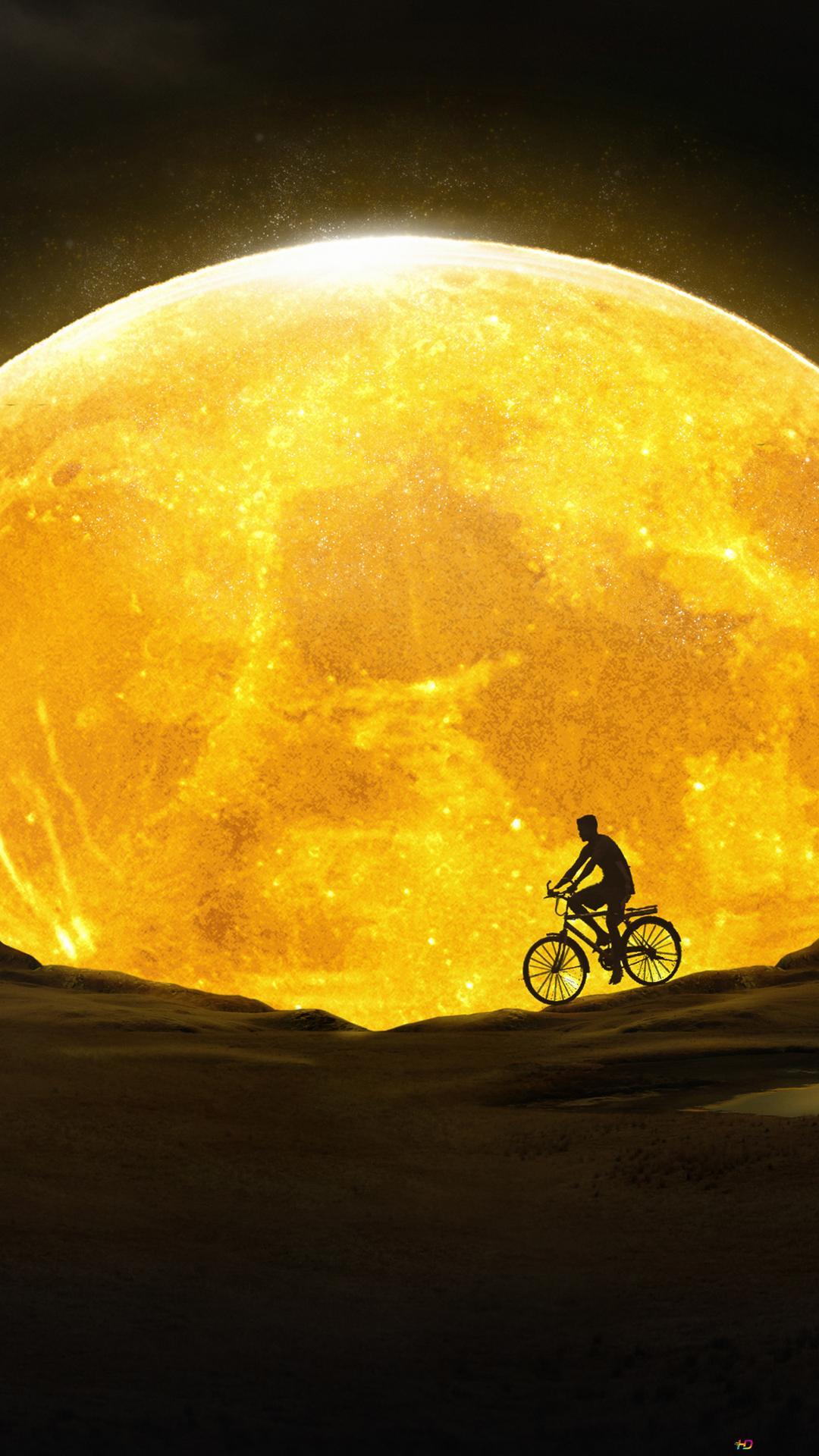 yellow moon wallpaper 1080x1920 32294 165
