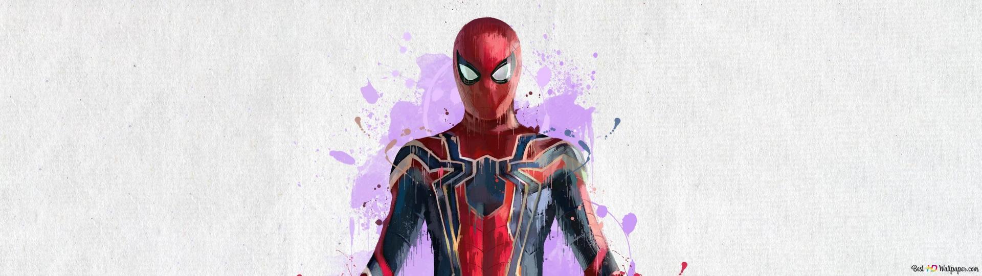 Yenilmezler Sonsuz Savaş örümcek Adam Boyama Hd Duvar Kağıdı Indir
