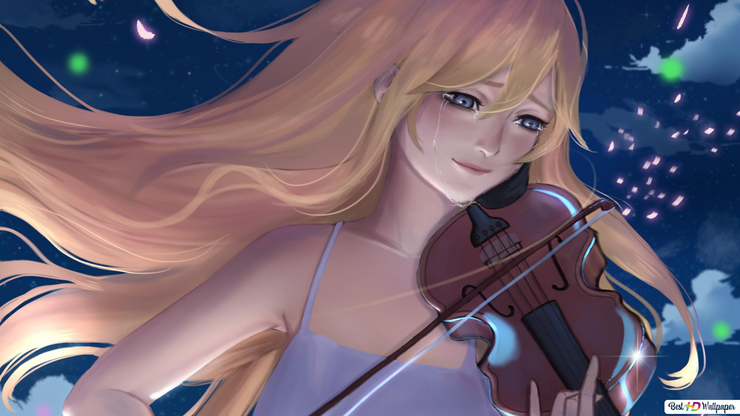 Your Lie In April Kaori Miyazono Violinist Hd Wallpaper Download