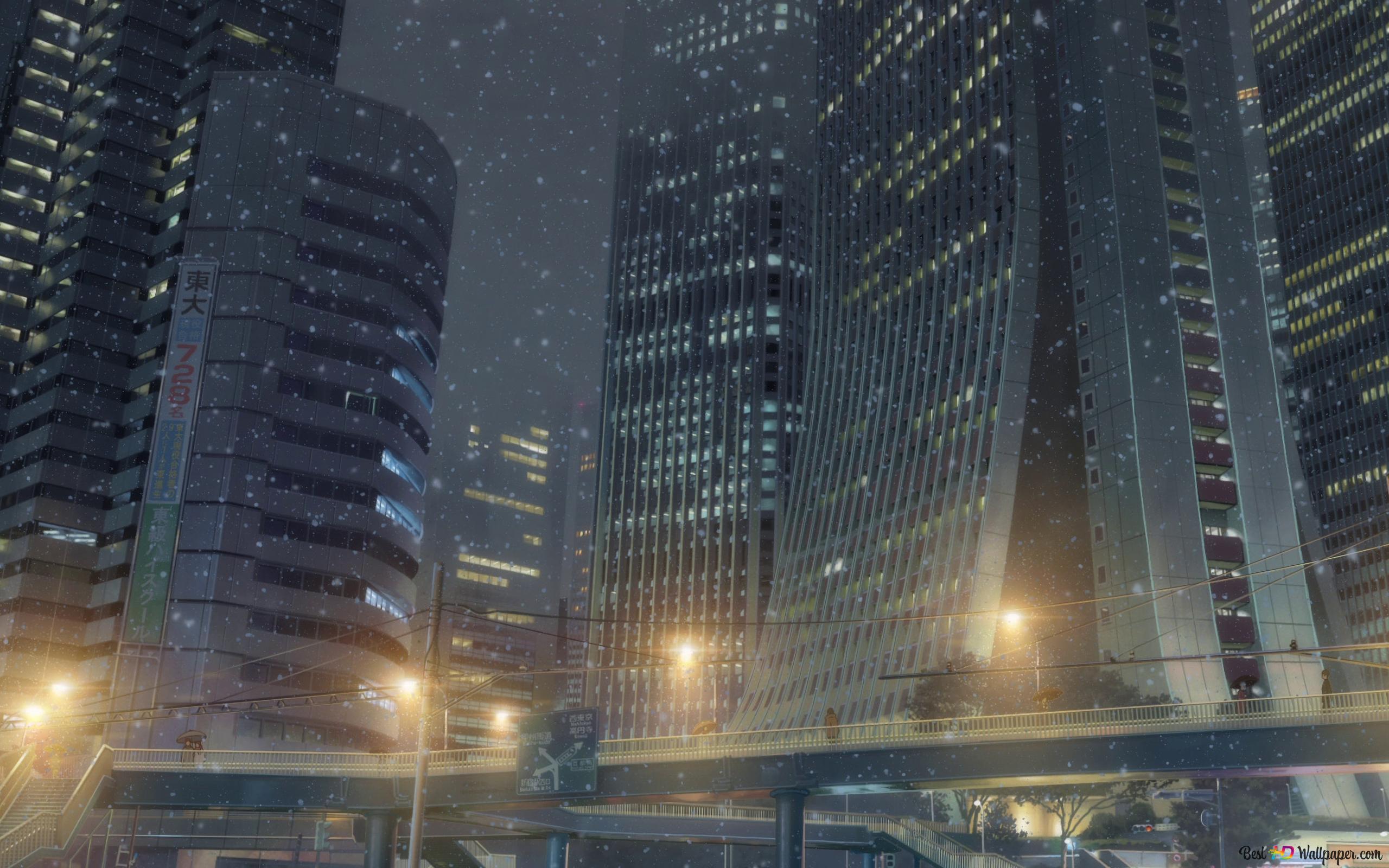 Your Name Tokyo At Night Hd Wallpaper Download