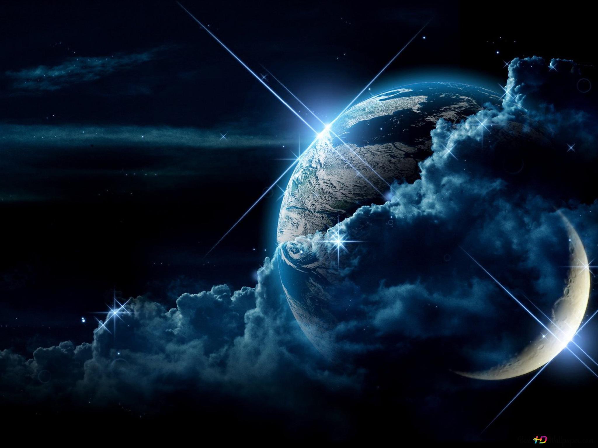 月球和行星高清壁紙下載
