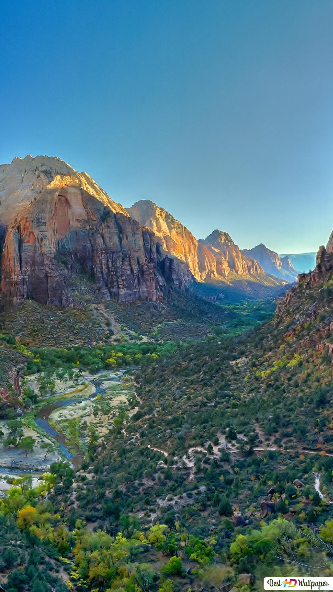 Zion National Park Bird S Eye View Hd Wallpaper Download